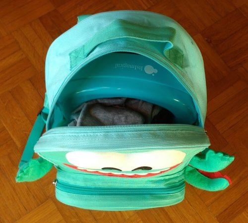 A mochila dela