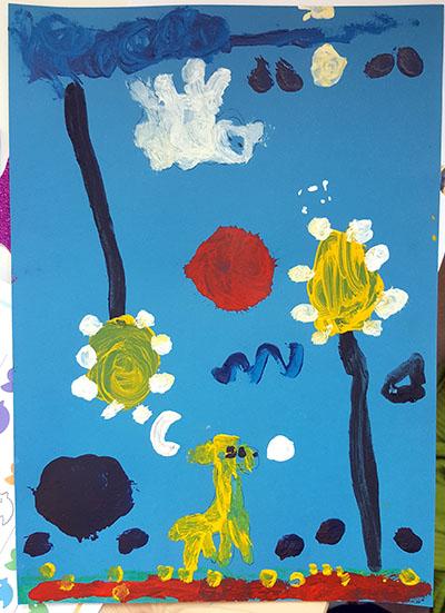 A pintura inspirada nas obras de Joan Miró