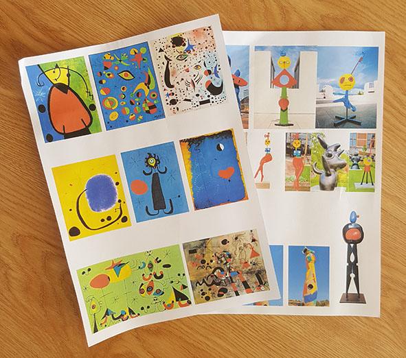 imagens de Pinturas e esculturas de Miró