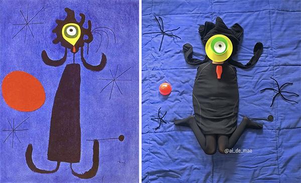 Miró a casa - recriação 3D de obra de Joan Miró